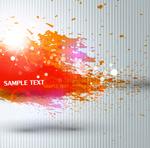 Splatter ink backgrounds vector