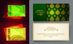 Exquisite fashion cards vector