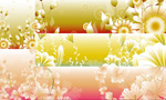 Shades of flowering plants vector