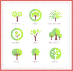 Trees with icon design vector