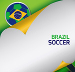 World Cup poster background vector