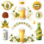 Creative beer label vector