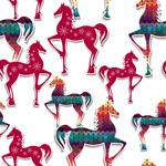 Creative patterns horses vector
