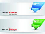 Origami digital banner vector