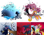 Beautiful illustration and pattern vector