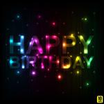 Birthday fonts vector