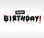 Cartoon birthday stereo vector