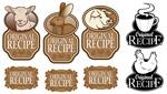 Cartoon Ranch label vector
