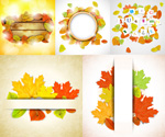 Colorful autumn leaves vectors