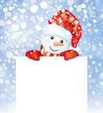 Cute snowman illustration vector