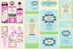 European wedding invitations vector