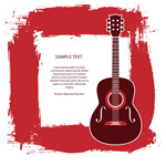 Guitar text background vector