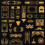Jinyi decorative elements vector