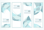Tint abstract banners vector