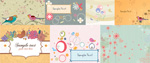 Spring pattern background vector