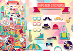 Hipster sticker vector