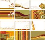 Color block design cards vector