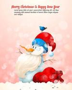 Fantasy snowman illustration vector