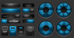 Solid web buttons vector