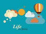 Life is journey vector