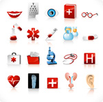 Medical tool icon vector