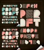 Some letters of the alphabet vector