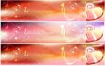 Valentine's Day heart banner vector