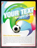 World Cup brochure vector