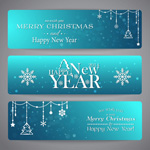Christmas banners backgrounds vector