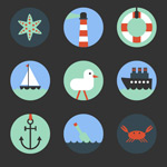 Navigation element icon vector