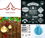 All kinds of Christmas elements vector