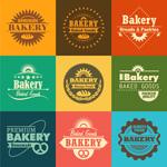 Bake cake flags vector