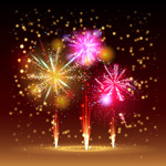 Gorgeous Fireworks background vector