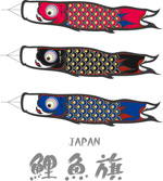 Japan carp streamers vector