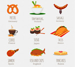 World Food icons vector