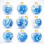 Pattern Christmas ball vector