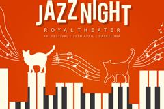 Creative jazz concert poster vector