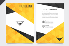 Fashion business flyer vector