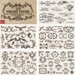 European retro patterned lace vector