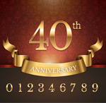 Anniversary number vector