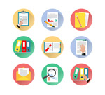 File and document icons vector