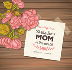 Mother's day flower wood vector