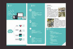 Enterprise software brochures vector