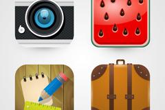 4 creative square icon vector