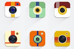 6 camera app icon vector