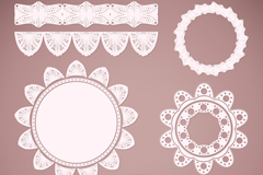 11 white lace vector