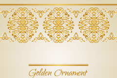 Gold card pattern vector