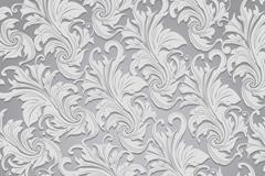 Grey European leaf-shaped pattern vector