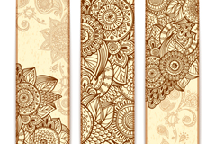 3 fashion pattern banner vector diagrams