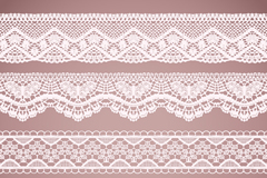 4 white lace pattern vector